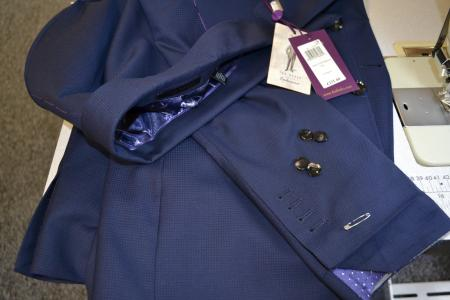 Men's suit alterations