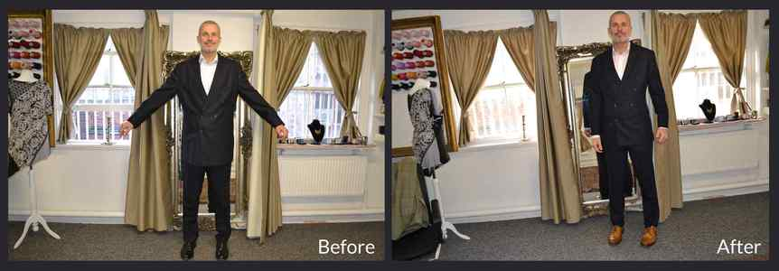 Before and After of Men's Alterations Process